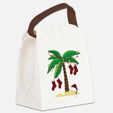 Tropical Christmas Canvas Lunch Bag