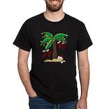 Beach christmas Mens Classic Dark T-Shirts