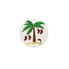 Tropical Christmas Mini Button
