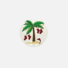 Tropical Christmas Mini Button