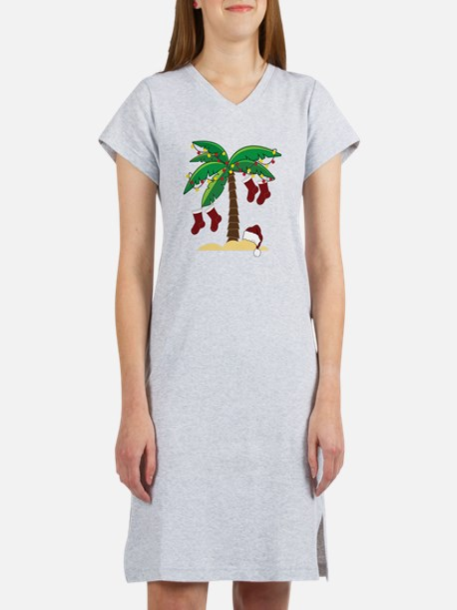 Tropical Christmas Women's Nightshirt