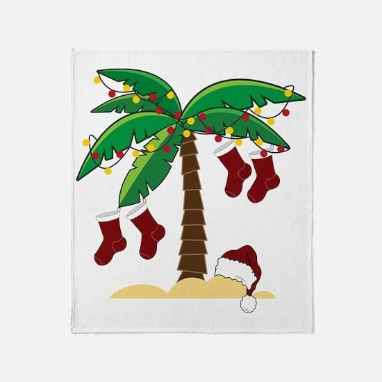Tropical Christmas Throw Blanket