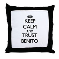 Keep Calm and TRUST Benito Throw Pillow