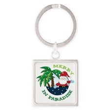 Merry In Paradise Square Keychain