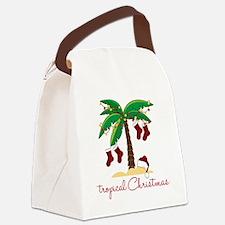 Tropical Christmas Canvas Lunch Bag