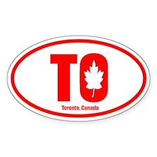 Toronto-Leaf Oval Decal