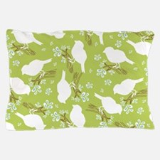 BirdSilho_Green_Large Pillow Case