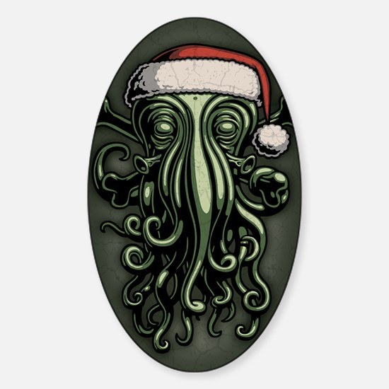cthulhu-claus-JRNL Sticker (Oval)