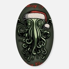 cthulhu-claus-CRD Sticker (Oval)