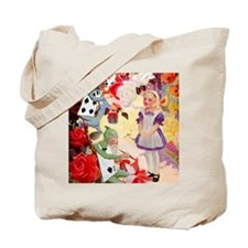 Alice Painting Roses SQ Tote Bag
