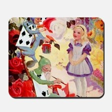 Alice Painting Roses SQ Mousepad