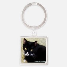 I love my Grandmeow! Square Keychain
