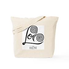White: Heart Me Tote Bag