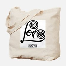 White: Heart Me Tote Bag