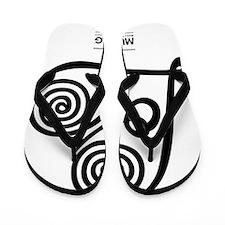 White: Heart Me Flip Flops