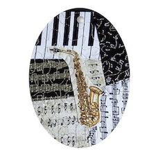 0555-ipad-sax Oval Ornament
