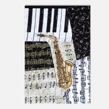 0555-ipad-sax Postcards (Package of 8)