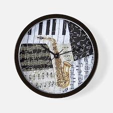 0555-ipad-sax Wall Clock