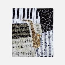 0555-sax Throw Blanket