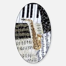 0555-sax Sticker (Oval)