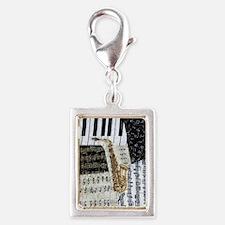 0555-sax Silver Portrait Charm