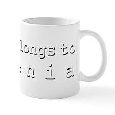 My Heart Belongs To Yesenia Mug