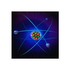 "Atomic structure Square Sticker 3"" x 3"""