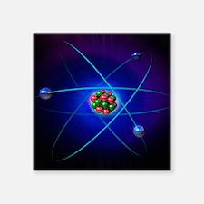 "Atomic structure Square Sticker 3"" x 3"""
