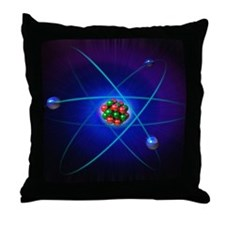 Atomic structure Throw Pillow