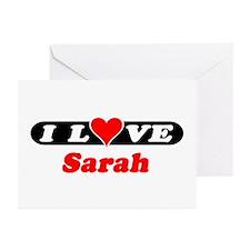 I Love Sarah Greeting Cards (Pk of 10)