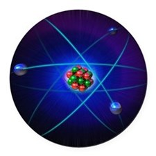Atomic structure Round Car Magnet