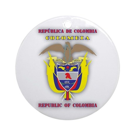 Colombia products v1 Ornament (Round)