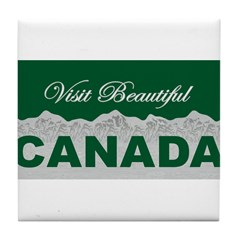 Visit Beautiful Canada Tile Coaster