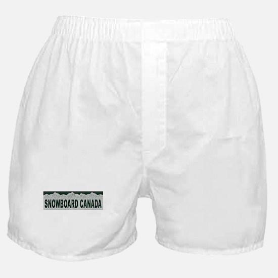 Snowboard Canada Boxer Shorts
