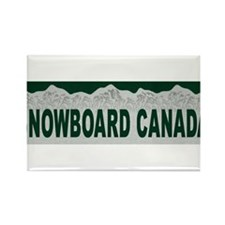Snowboard Canada Rectangle Magnet