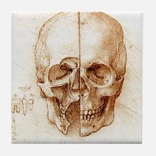 Skull anatomy by Leonardo da Vinci Tile Coaster