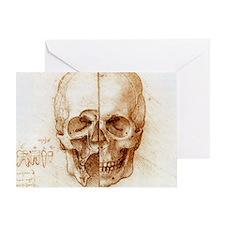 Skull anatomy by Leonardo da Vinci Greeting Card