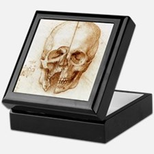 Skull anatomy by Leonardo da Vinci Keepsake Box