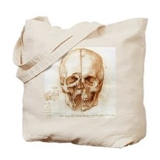 Skull anatomy by Leonardo da Vinci Tote Bag