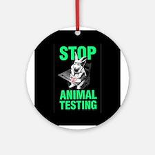 STOP ANIMAL TESTING Ornament (Round)