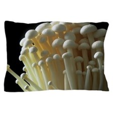 Enoki mushrooms (Flammulina velutipes) Pillow Case