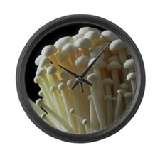 Enoki mushrooms (Flammulina velut Large Wall Clock