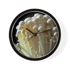 Enoki mushrooms (Flammulina velutipes) Wall Clock