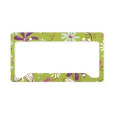 FlowerBotanical_Green_Large License Plate Holder