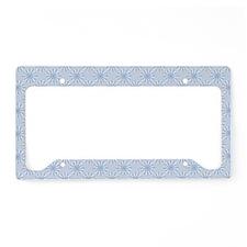 FlowerLoop_Blue1_Large License Plate Holder