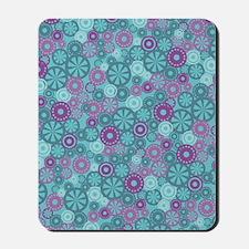 FlowerDotsLayer_BluePurple_Large Mousepad