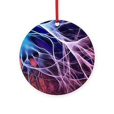Electron flow Round Ornament