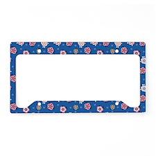 FlowerJeans_Blue_Large License Plate Holder