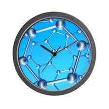 Buckminsterfullerene Wall Clock