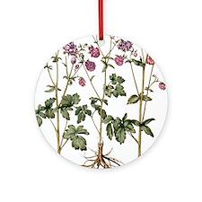 Columbine flowers Round Ornament